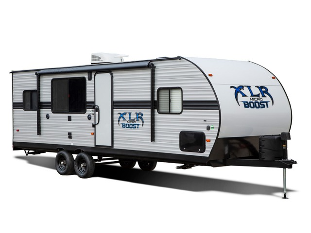 Custom Build & Price A XLR Micro Boost Toy Hauler (Travel Trailer) by Forest River