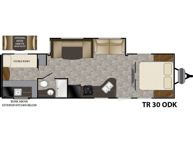 Trail Runner Travel Trailer Model 30ODK by Heartland Floorplan