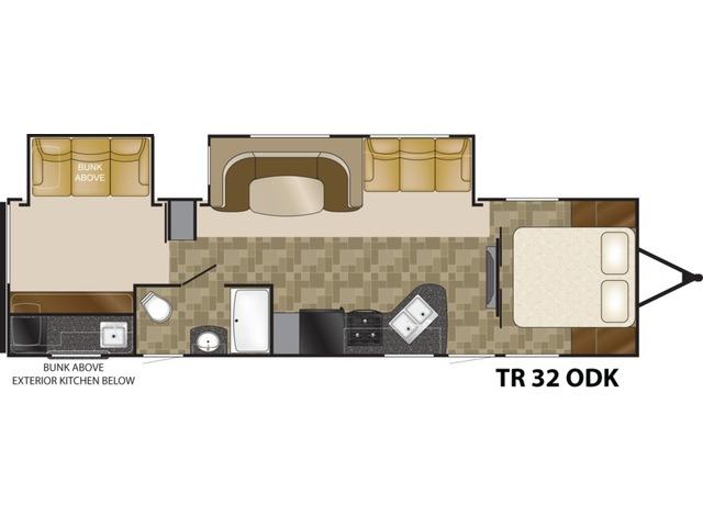 Trail Runner Travel Trailer Model 32ODK by Heartland Floorplan