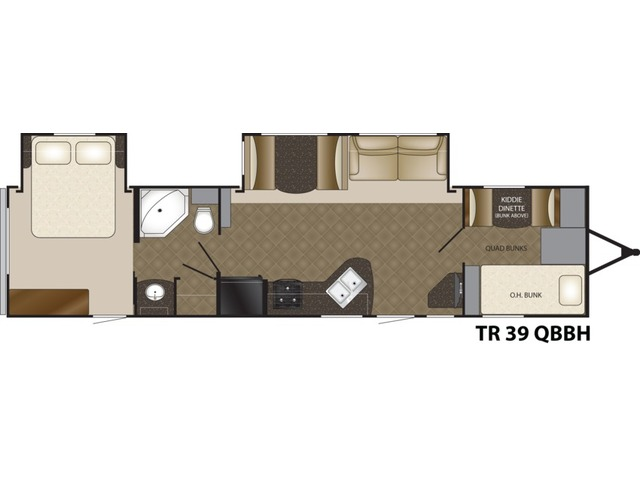 Trail Runner Travel Trailer Model 39QBBH by Heartland Floorplan