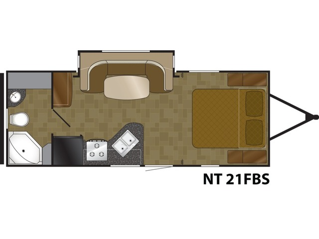 North Trail Travel Trailer Model 21FBS by Heartland Floorplan
