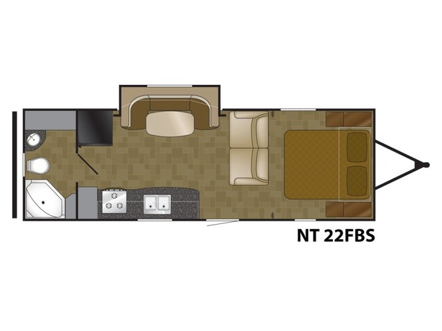 North Trail Travel Trailer Model 22FBS by Heartland Floorplan