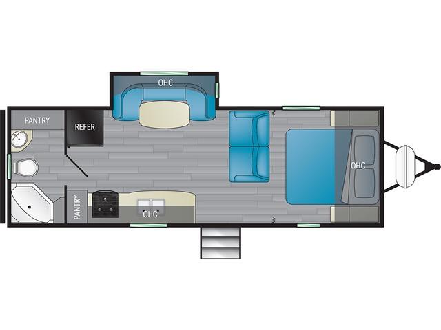 North Trail Travel Trailer Model 22FBS by Heartland Floorplan