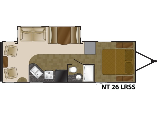 North Trail Travel Trailer Model 26LRSS by Heartland Floorplan