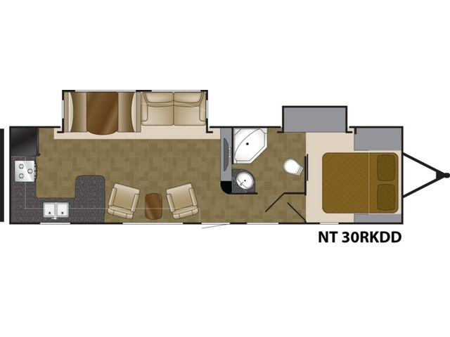 North Trail Travel Trailer Model 30RKDD by Heartland Floorplan