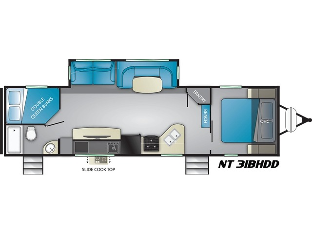North Trail Travel Trailer Model 31BHDD by Heartland Floorplan