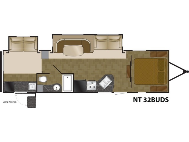 North Trail Travel Trailer Model 32BUDS by Heartland Floorplan
