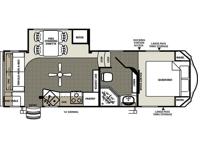 Sierra Select Fifth Wheel Model 25RLS by Forest River Floorplan
