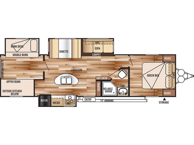 Salem Travel Trailer Model 31BKIS by Forest River Floorplan