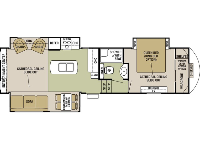 Silverback Fifth Wheel Model 29IK by Forest River Floorplan