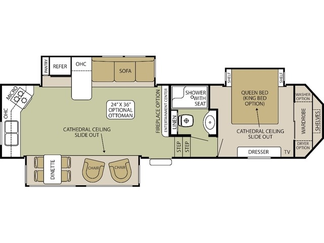 Silverback Fifth Wheel Model 31RK by Forest River Floorplan