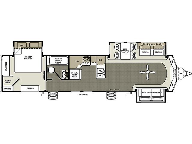 Sierra Park Trailer Model 393CK by Forest River Floorplan