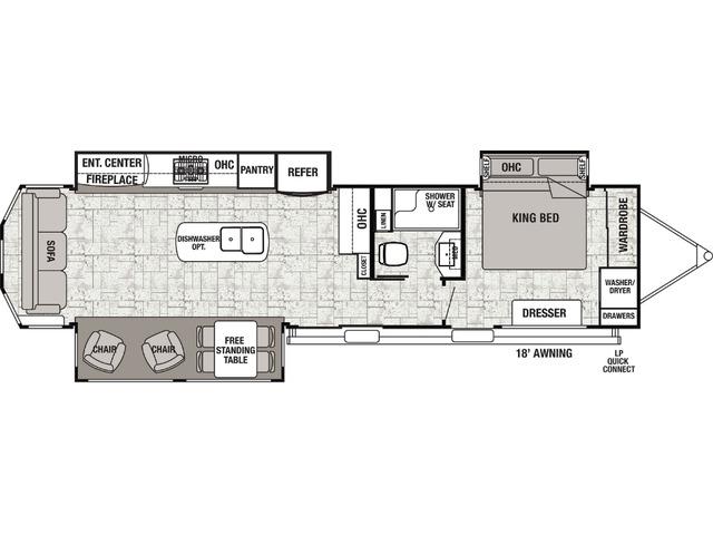Cottage Park Trailer Model 40CRS by Forest River Floorplan