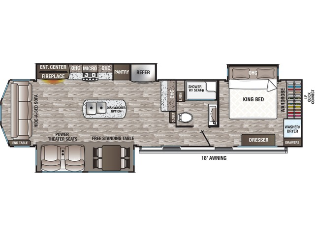 Cottage Park Trailer Model 40CRS by Forest River Floorplan
