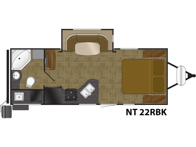 North Trail Travel Trailer Model 22RBK by Heartland Floorplan