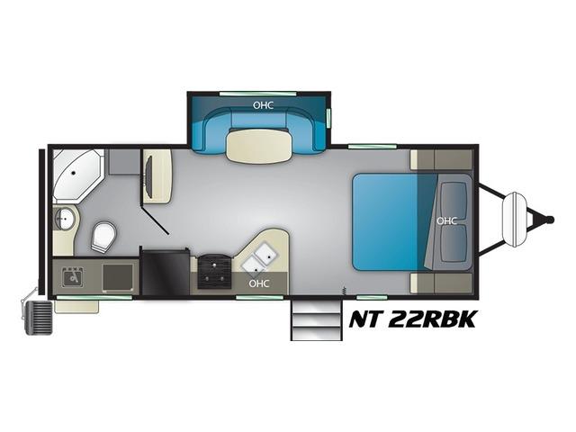 North Trail Travel Trailer Model 22RBK by Heartland Floorplan