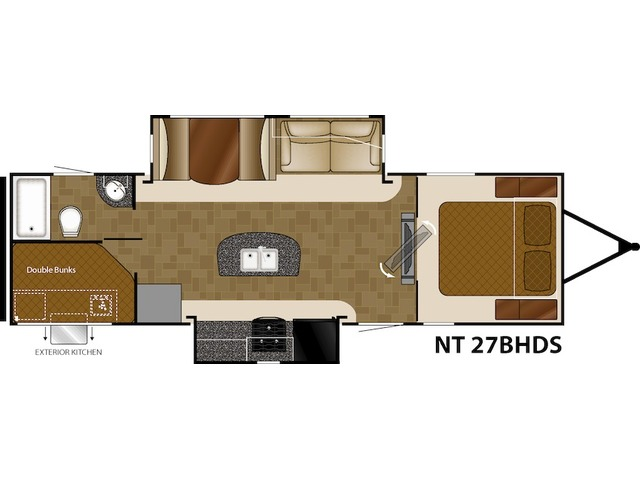 North Trail Travel Trailer Model 27BHDS by Heartland Floorplan