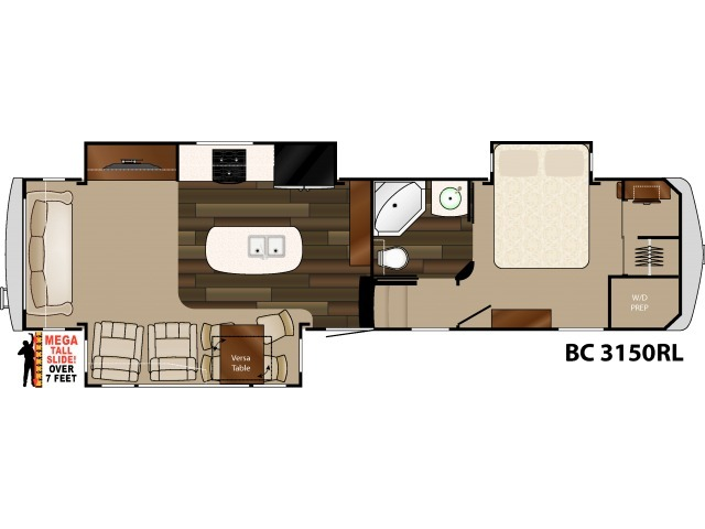 Big Country Fifth Wheel Model 3150RL by Heartland Floorplan
