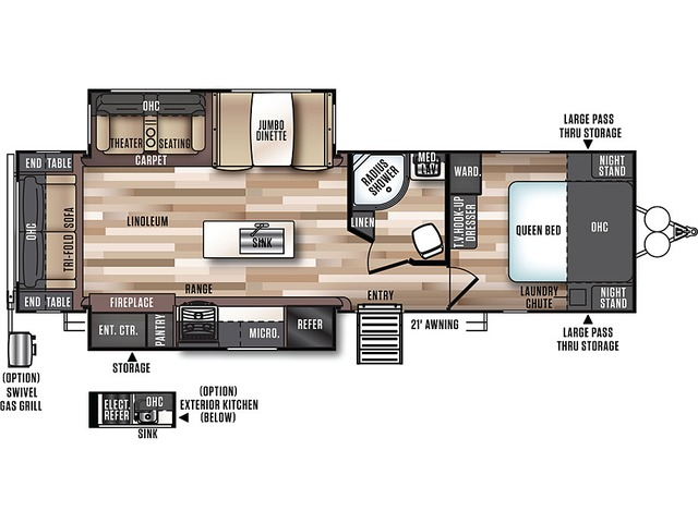 Hemisphere Travel Trailer Model 272RL by Forest River Floorplan