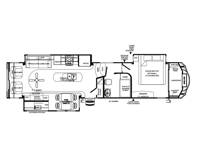 Sierra Fifth Wheel Model 360PDEK by Forest River Floorplan