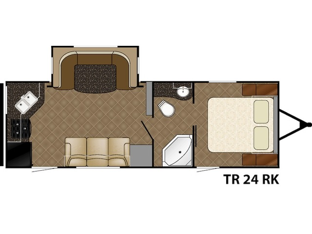 Trail Runner Travel Trailer Model 24RK by Heartland Floorplan