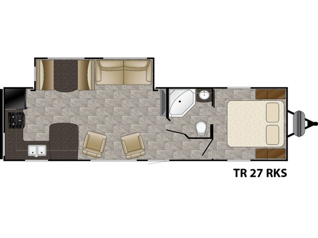 Trail Runner Travel Trailer Model 27RKS by Heartland Floorplan