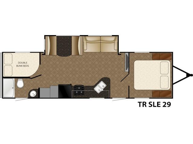 Trail Runner SLE Travel Trailer Model 29SLE by Heartland Floorplan