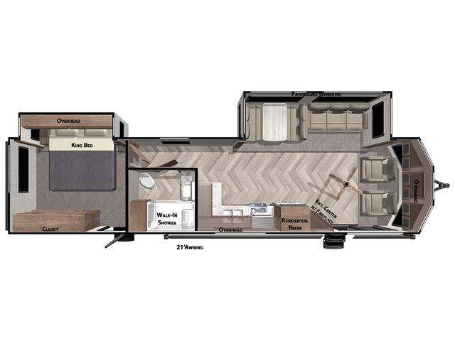 Salem Villa Park Trailer Model 353FLFB by Forest River Floorplan
