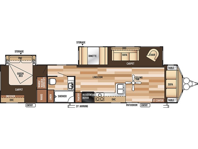 Salem Villa Classic Park Trailer Model 39FDEN by Forest River Floorplan