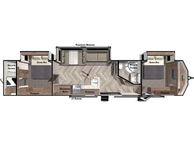 Salem Villa Park Trailer Model 4002Q by Forest River Floorplan