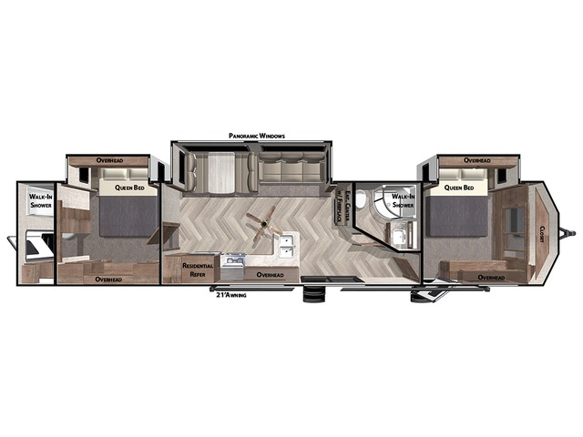 Salem Villa Park Trailer Model 4002Q by Forest River Floorplan