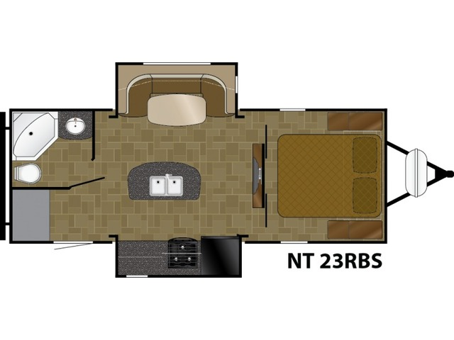 North Trail Travel Trailer Model 23RBS by Heartland Floorplan