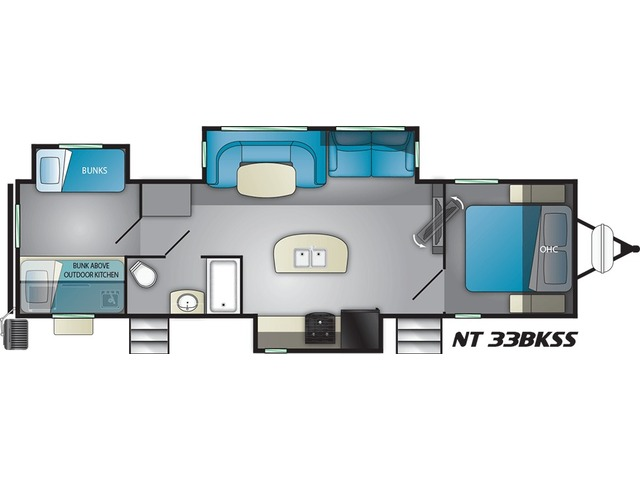 North Trail Travel Trailer Model 33BKSS by Heartland Floorplan