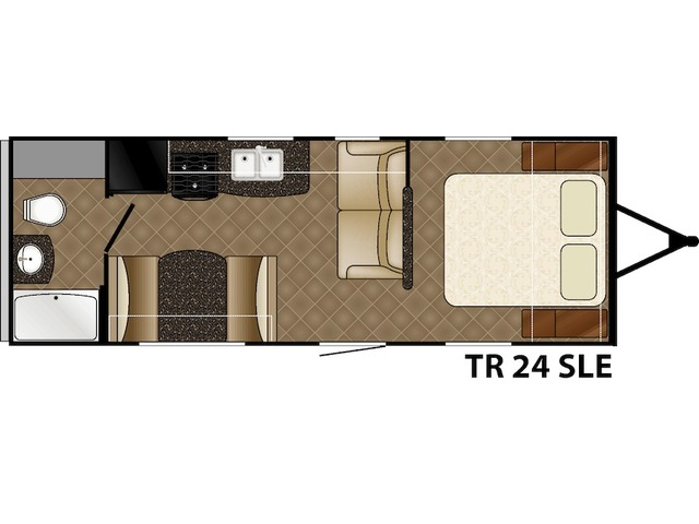 Trail Runner SLE Travel Trailer Model 24SLE by Heartland Floorplan