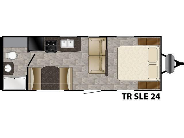 Trail Runner SLE Travel Trailer Model 24SLE by Heartland Floorplan