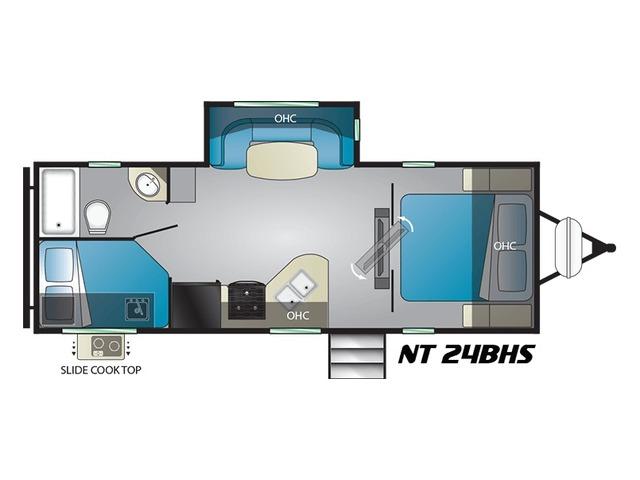 North Trail Travel Trailer Model 24BHS by Heartland Floorplan