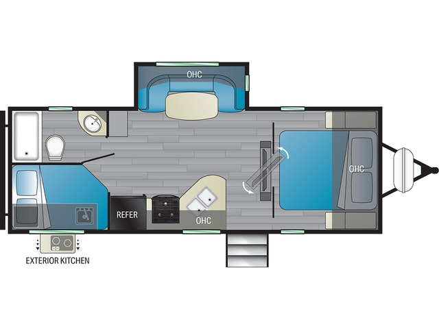 North Trail Travel Trailer Model 24BHS by Heartland Floorplan