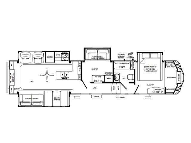 Sierra Fifth Wheel Model 373REBH by Forest River Floorplan