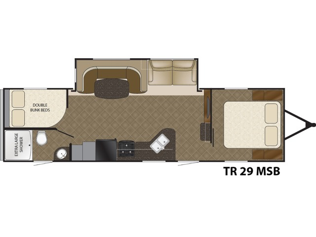 Trail Runner Travel Trailer Model 29MSB by Heartland Floorplan