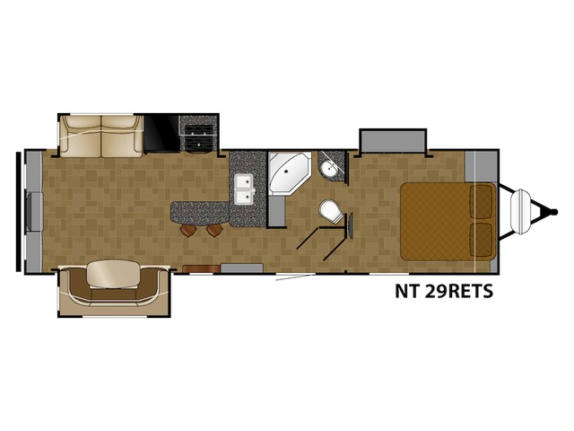 North Trail Travel Trailer Model 29RETS by Heartland Floorplan