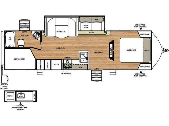 Vibe Travel Trailer Model 272BHS by Forest River Floorplan