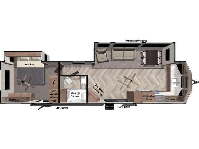 Salem Villa Estate Park Trailer Model 394FKDS by Forest River Floorplan