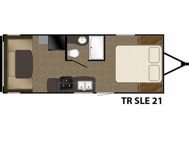 Trail Runner SLE Travel Trailer Model 21SLE by Heartland Floorplan