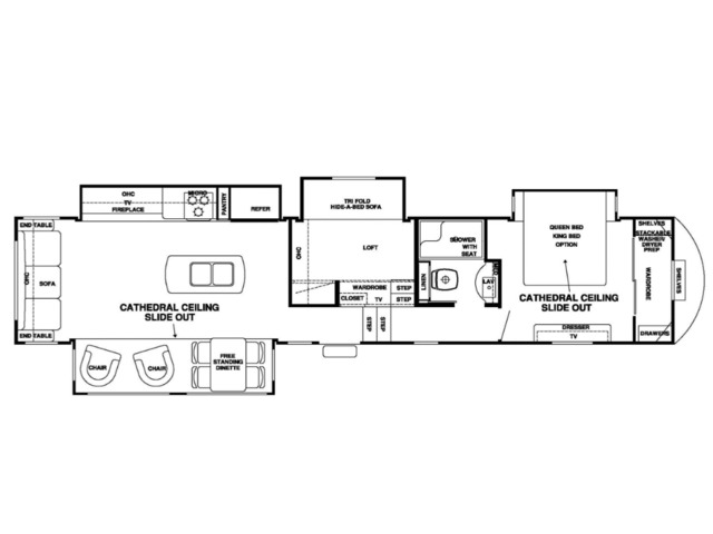 Silverback Fifth Wheel Model 37MBH by Forest River Floorplan