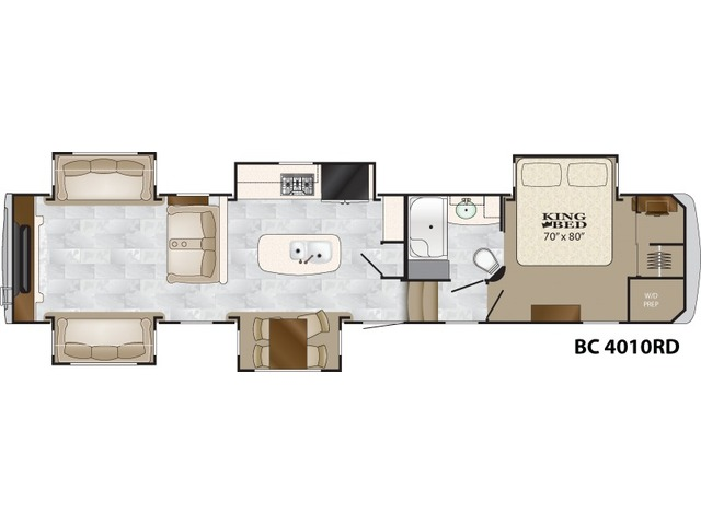 Big Country Fifth Wheel Model 4010RD by Heartland Floorplan