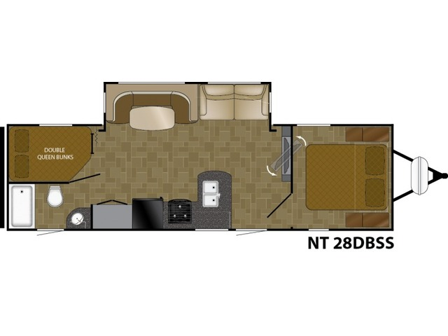 North Trail Travel Trailer Model 28DBSS by Heartland Floorplan