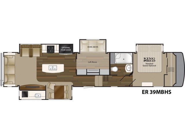 Elkridge Fifth Wheel Model 39MBHS by Heartland Floorplan