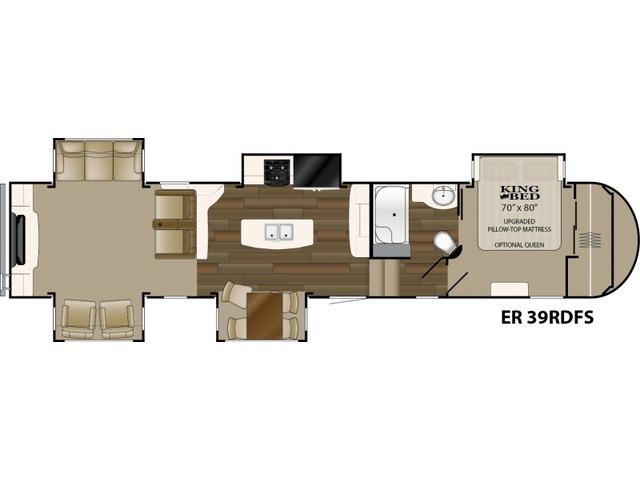 Elkridge Fifth Wheel Model 39RDFS by Heartland Floorplan
