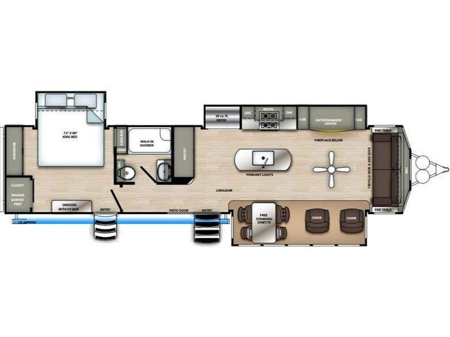 Sierra Park Trailer Model 401FLX by Forest River Floorplan