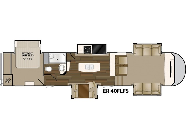 Elkridge Fifth Wheel Model 40FLFS by Heartland Floorplan